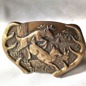 Vtg Bergamot Brass Buckle